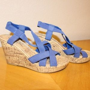 Strappy summer wedges